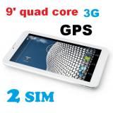 Четириядрен таблет MEDIATEK M903 MTK8382 функция разговори 9 инча 3G 2SIM GPS