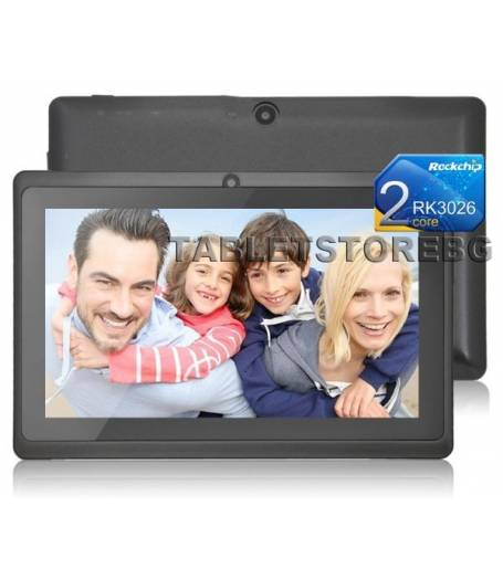 Rockchip 3026 Двуядрен Таблет 7 инча 1.2GHZ WIFI BG Черен(RK3026-7B) в tabletstorebg