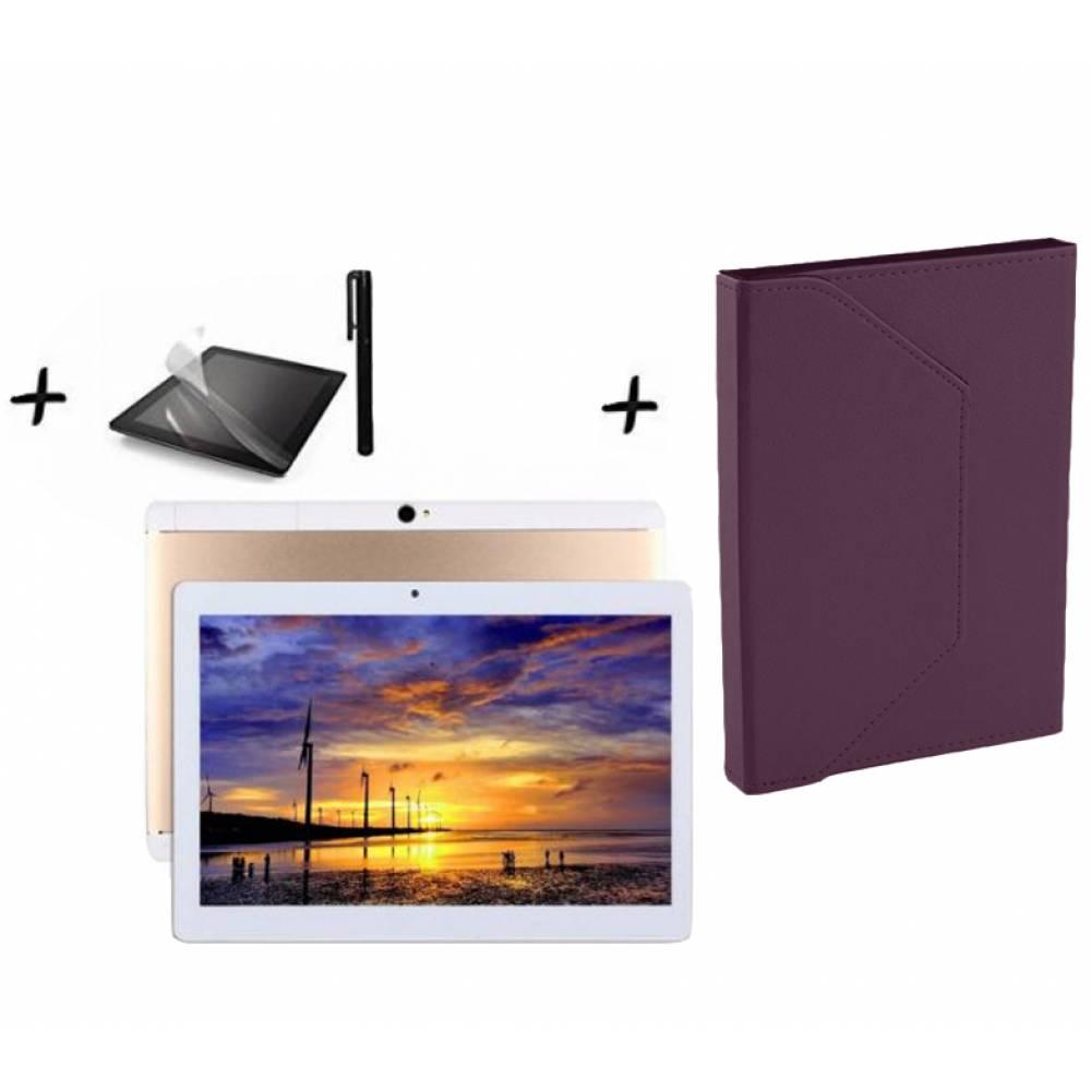 "Комплект Таблет Mediatek KT107 четири-ядрен процесор (1,3Ghz) 10.1"", 1280х800 IPS, 1GB RAM, 16GB,3G, GPS, Wi-Fi, Bluetooth, Lollipop 5.1, Черен"
