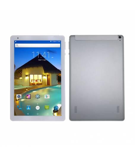 """Комплект Таблет Mediatek K107 четири-ядрен процесор 10.1"""", 1280х800 IPS, 1GB RAM, 16GB,3G, GPS, Wi-Fi, Bluetooth, Nougat 7.0, Сребрист, Протектор, Писалка"""