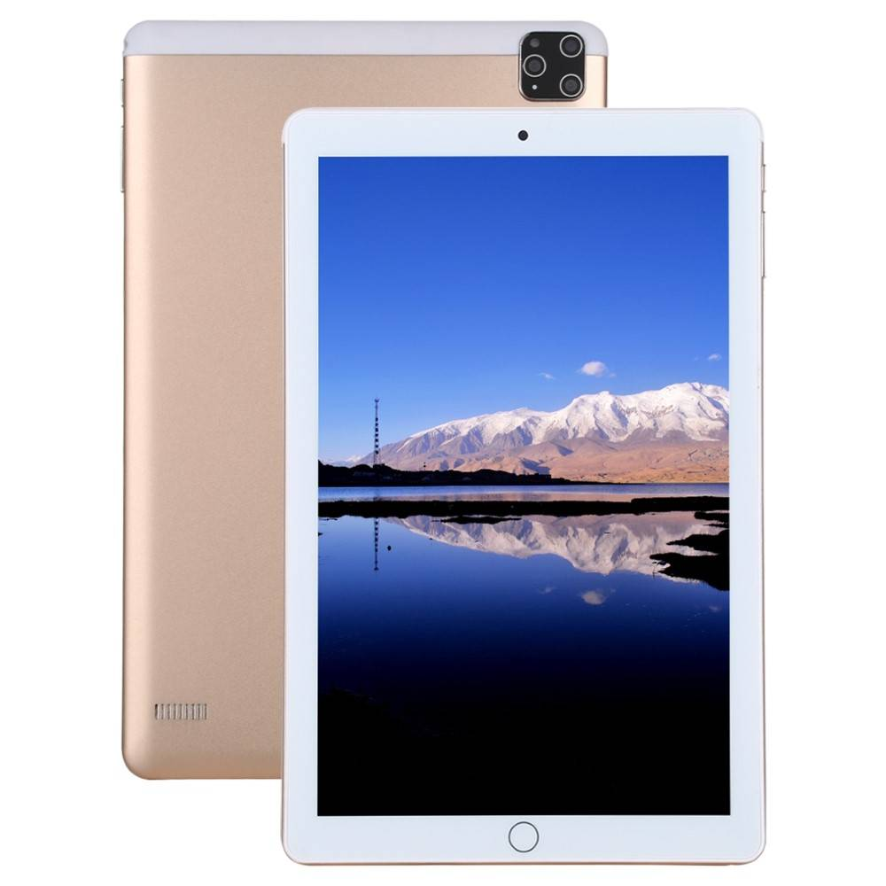 "Таблет KA Digital® K101-3 четири-ядрен процесор MT6739 1,5Ghz 10.1"", 4G, 1280х800 IPS, 2GB RAM, 32GB, GPS навигация, Wi-Fi, Bluetooth, Android 9, Златист, Протектор, Писалка"