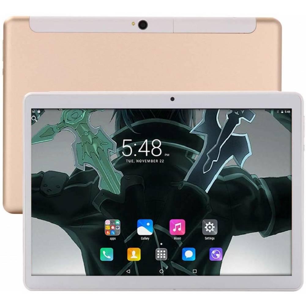 "Таблет KA Digital® MGX20 десет-ядрен процесор Helio X20 3GB RAM 32GB 4G LTE 10.1"", 1920x1200 IPS, GPS, Wi-Fi, Bluetooth, Oreo 8.0, Златист, Протектор, Писалка"