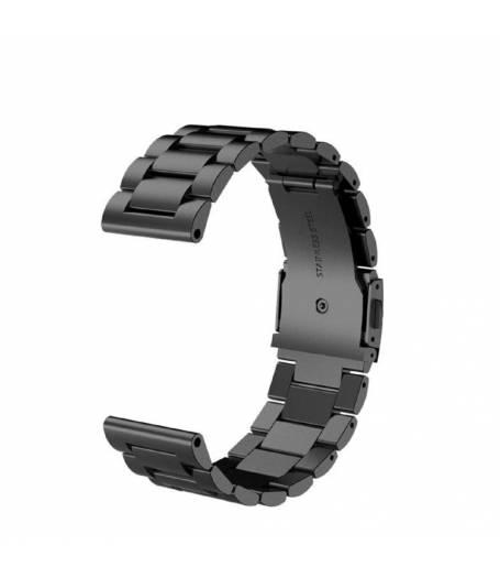 Метална верижка Ka Digital 20mm за Samsung Active /S2, S3, S4/Galaxy 42, Amazfit GTS2, Черна