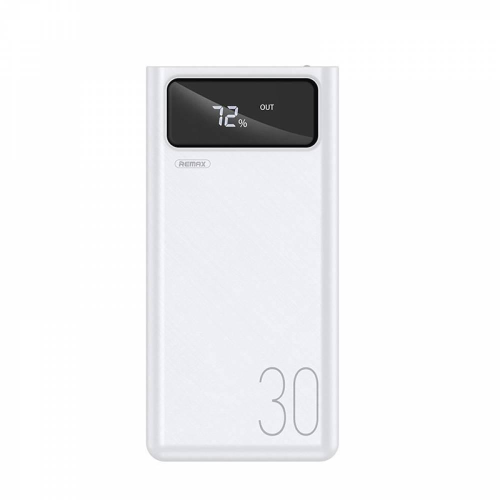Външна батерия Remax Mengine Power Bank, 4 x USB, 30000 mAh, 2,1A, Бяла в tabletstorebg