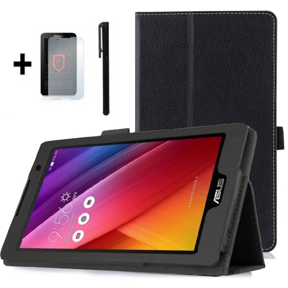 Kалъф за таблет Asus ZenPad C7 Z170C Черен +протектор+писалка 7 инча тип ПАПКА