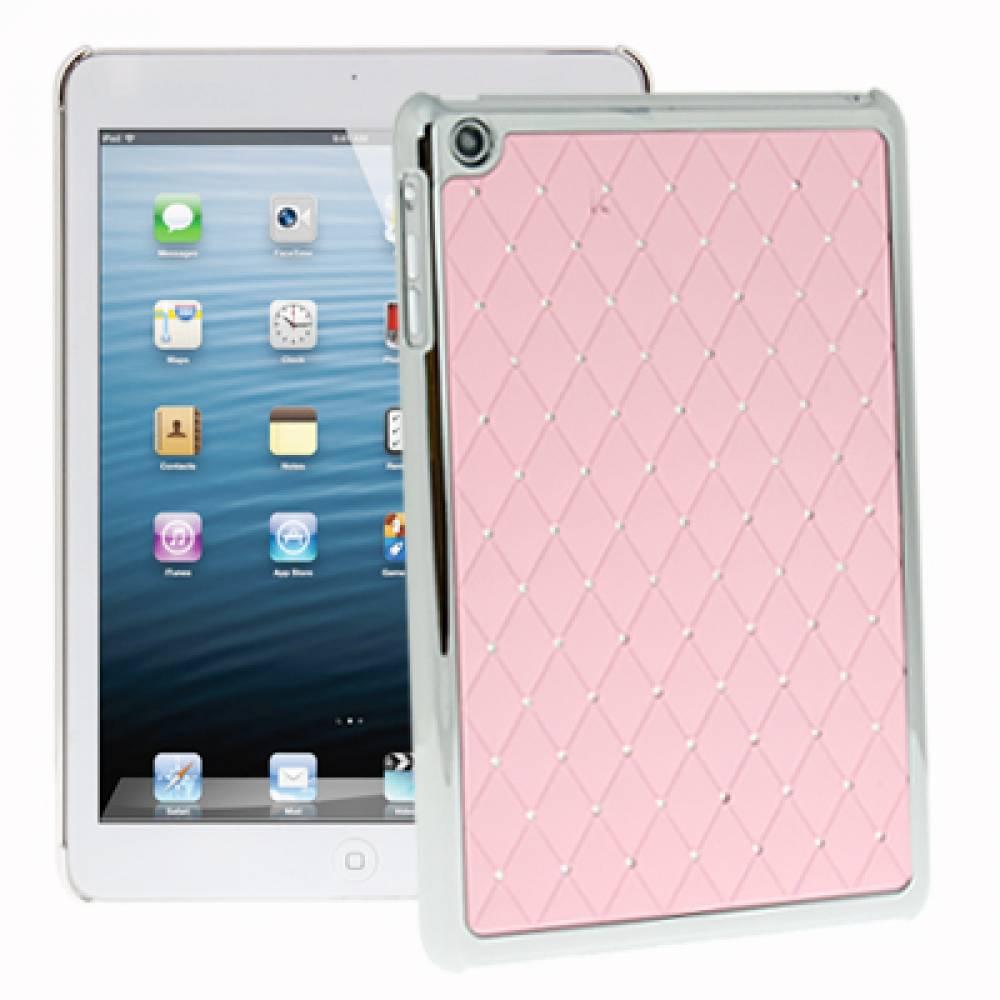 Луксозен гръб за таблет Ipad Mini розов с камъчета(BC-IMP) в tabletstorebg