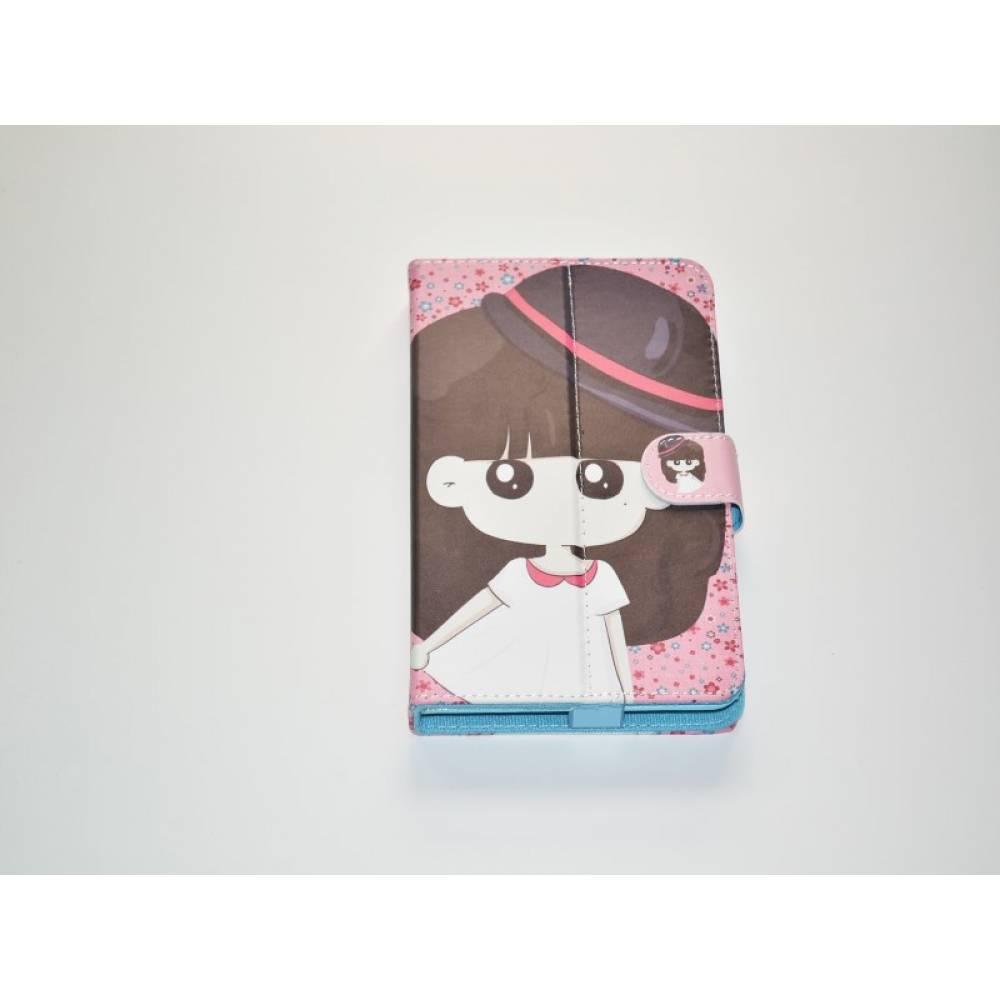 детски калъф 7 инча с картинки момиче с шапка в tabletstorebg