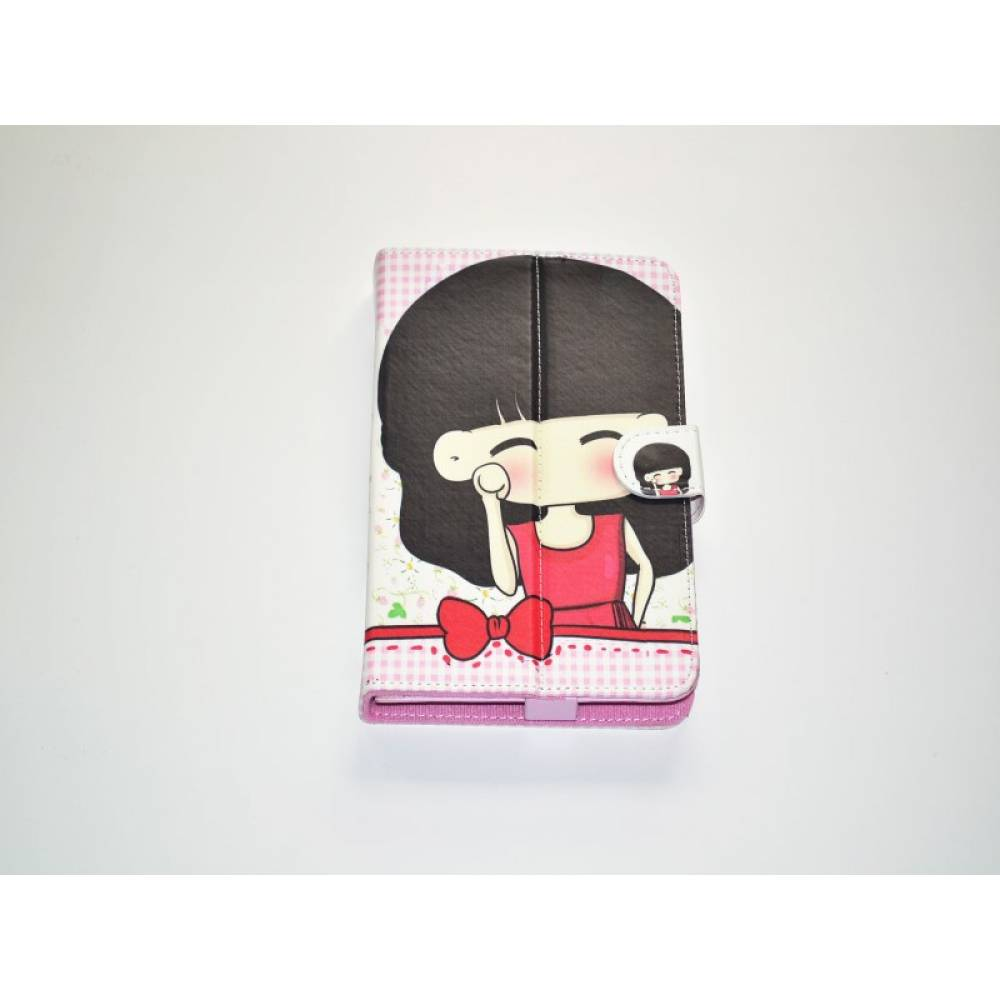 детски калъф 7 инча с картинки Момиче с пандела каре в tabletstorebg