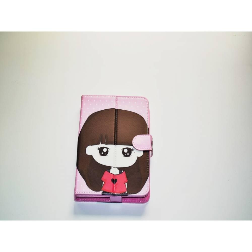 детски калъф 7 инча с картинки момиче с потник и сърце в tabletstorebg