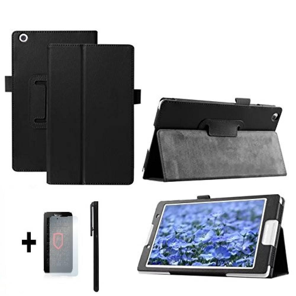 Kалъф за таблет Lenovo Tab 2 A8-50  8 инча  Черен +протектор+писалка тип ПАПКА