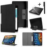 """Комплект Ka Digital Kалъф за таблет Lenovo Yoga Smart Tab YT-X705F 10.1"""" инча  Черен, Протектор, писалка"""
