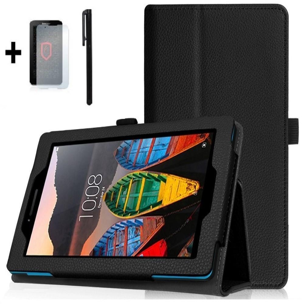 Kалъф за таблет Lenovo Andy Lite TAB3 A7-10F  Черен +протектор+писалка 7 инча тип ПАПКА