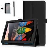 Комплект Ka Digital Kалъф за таблет Lenovo Andy Lite TAB3 A7-10F Черен, протектор, писалка