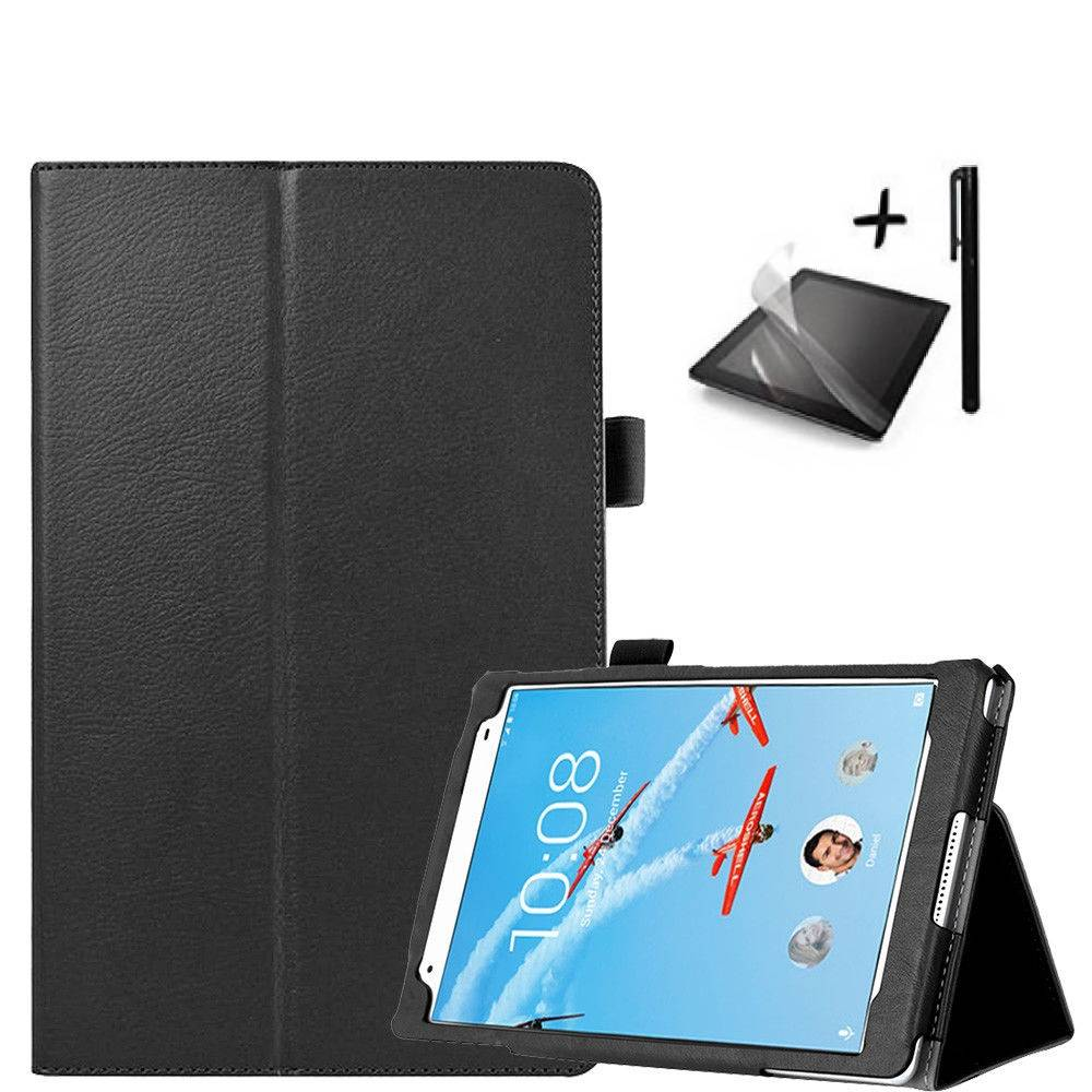 Комплект KA Digital Калъф за таблет Lenovo Tab 4 8 TB-8704,Черен, протектор, стилус в tabletstorebg