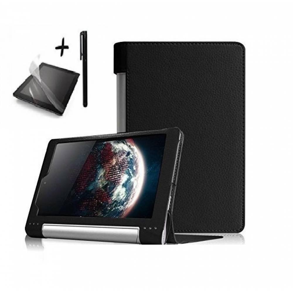 Kалъф за таблет Lenovo Yoga Tab 3 8 инча Черен +протектор+писалка тип ПАПКА