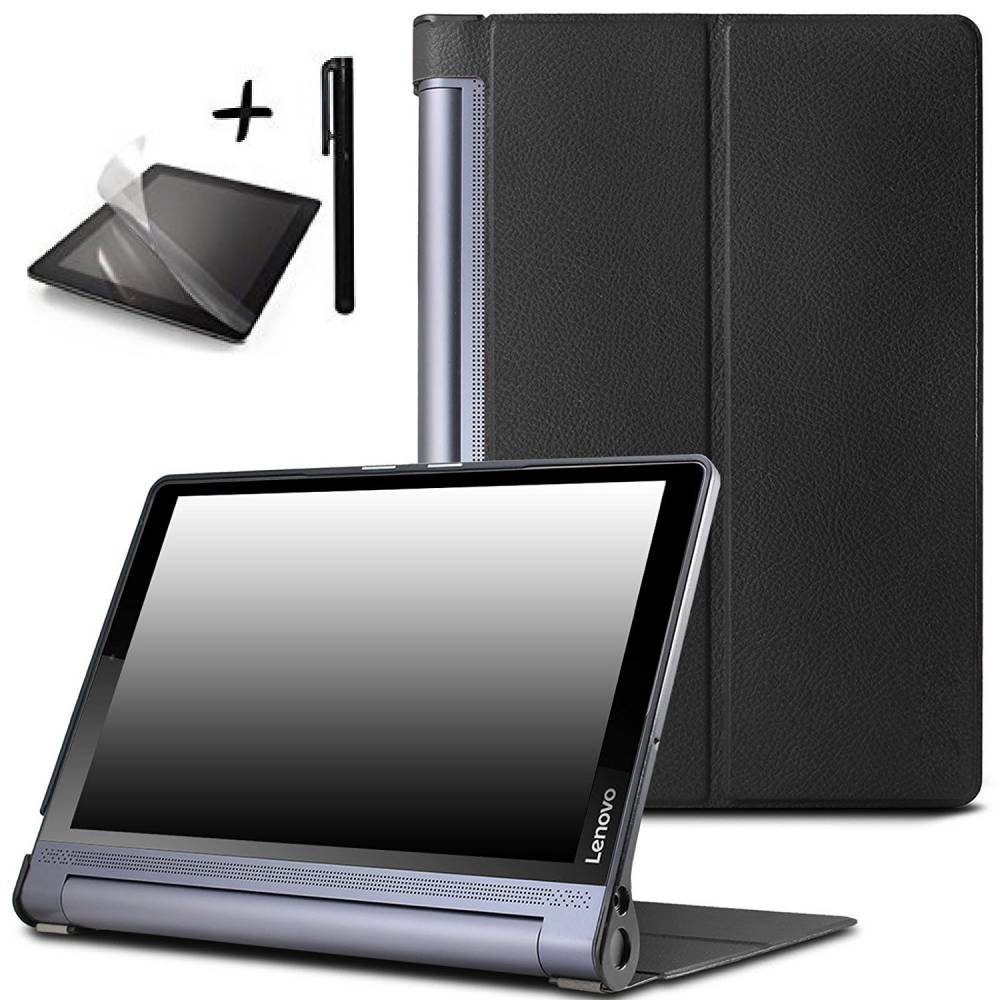 "Kалъф за таблет Lenovo Yoga Tab 3 Pro YT-X90 Plus YT-X703 10.1"" инча папка Черен, протектор,писалка тип ПАПКА"