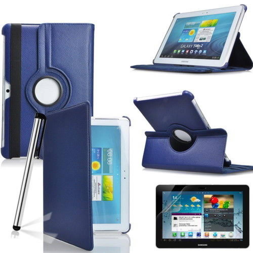 калъф за таблет Samsung Galaxy Tab 2 10.1 P5100 въртящ на 360 градуса-тъмно син(KK-SM-P5100-blu) в tabletstorebg