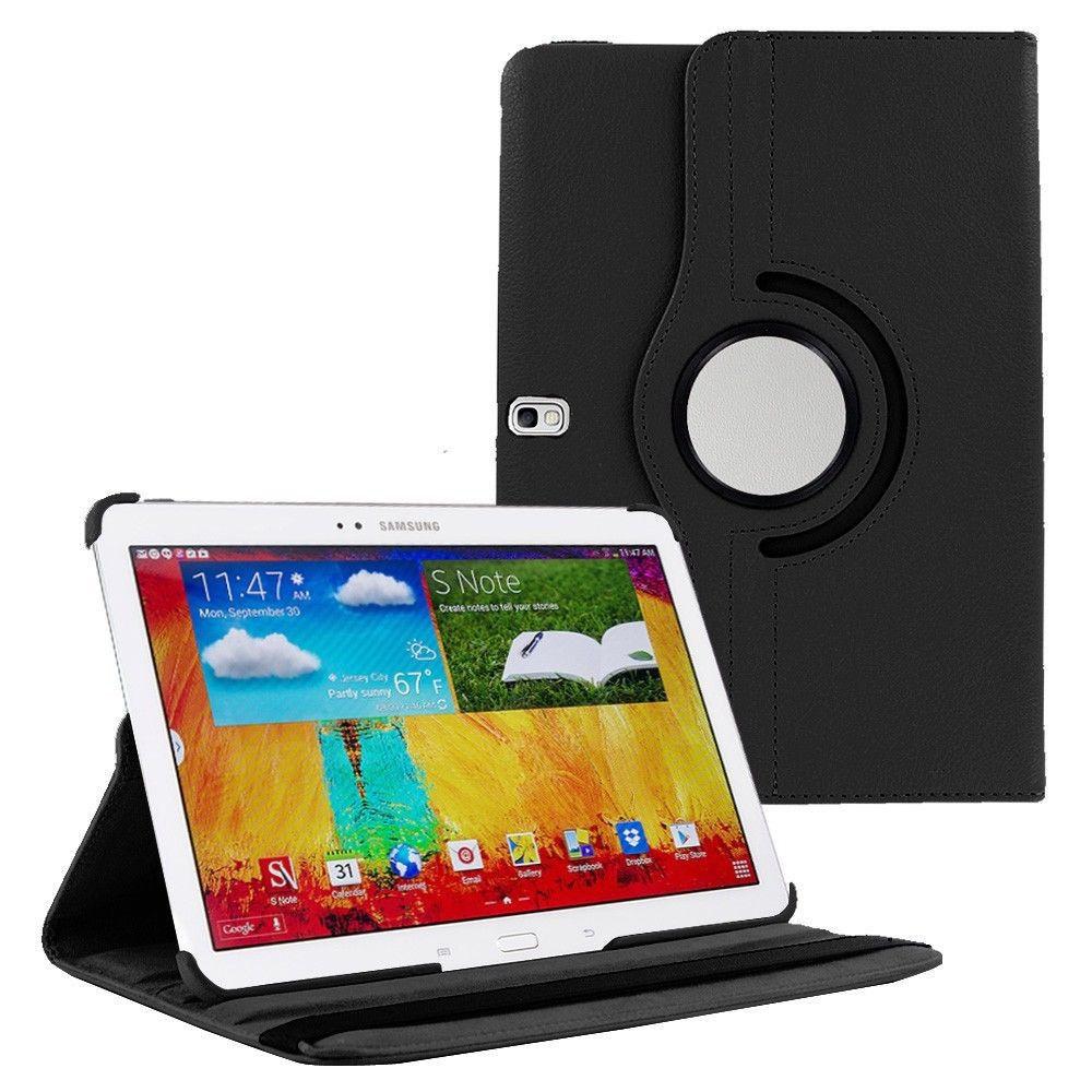 калъф за таблет Samsung Galaxy Note 10.1 2014 Edition P600 въртящ на 360 градуса-черен(KK-P600-Bl) в tabletstorebg