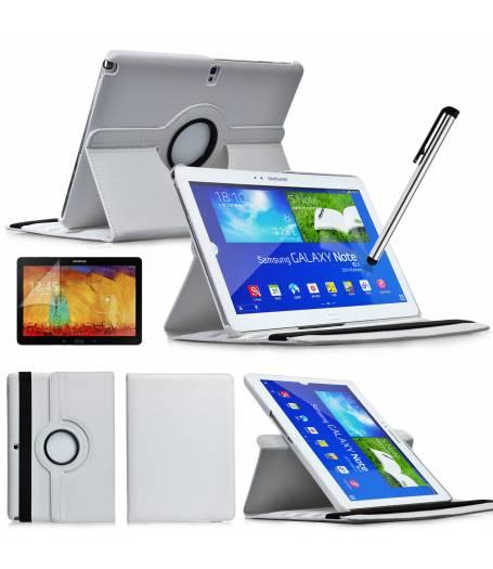 калъф за таблет Samsung Galaxy Note 10.1 2014 Edition P600 въртящ на 360 градуса-бял(KK-P600-wh) в tabletstorebg