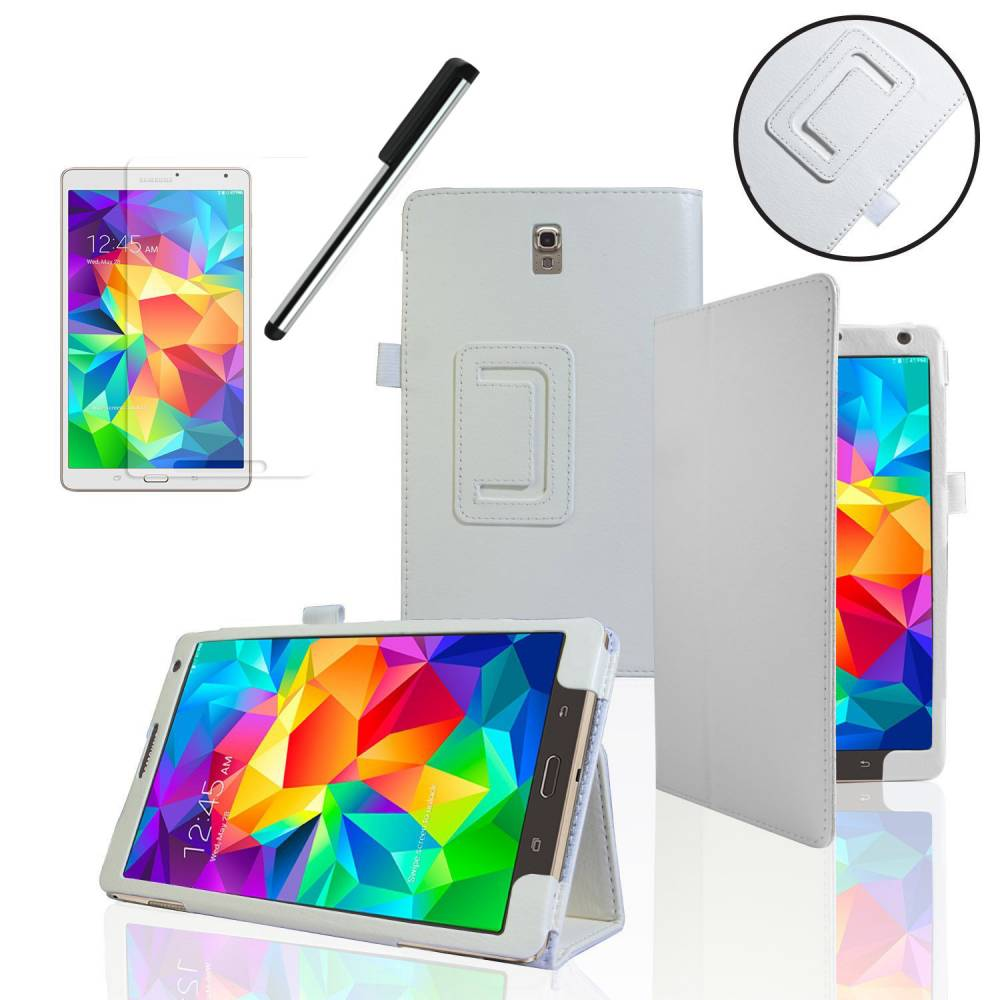 "Калъф Бял Samsung Galaxy Tab S 8.4"" SM-T700 SM-T705 +протектор+стилус(KA-Т230-w) в tabletstorebg"