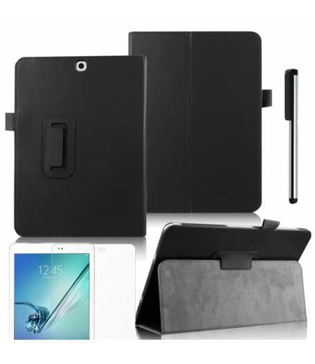 Черен Кожен Калъф Samsung Galaxy Tab S2 9.7 SM-T810 | SM-T815 +протектор+стилус(KA-Т815-w) в tabletstorebg