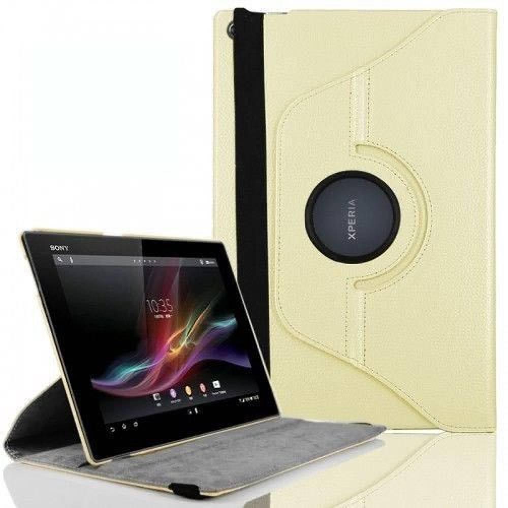 калъф за Sony Xperia Z таблет Бял ВЪРТЯЩ НА 360 ГРАДУСА(KK-SEZw360) в tabletstorebg