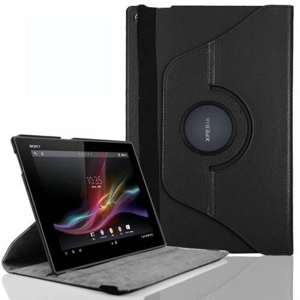 калъф за Sony Xperia Z таблет Черен ВЪРТЯЩ НА 360 ГРАДУСА(KK-SEZb360) в tabletstorebg