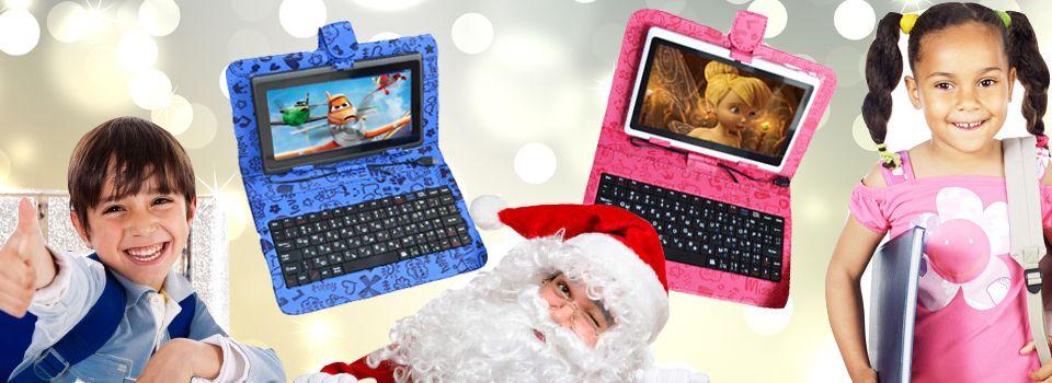 Коледна промоция таблет+клавиатура за деца