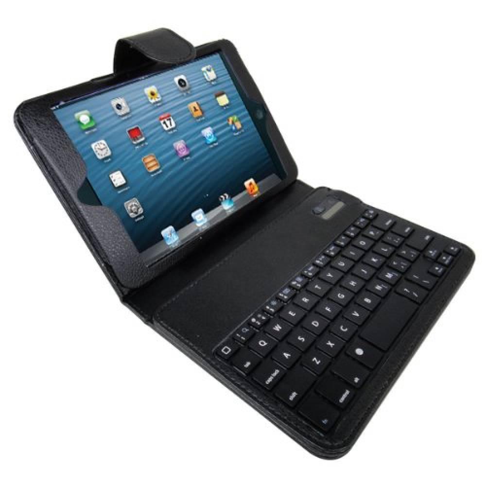Кожен калъф с Bluetooth клавиатура за таблет Apple Ipad mini Черна(KT-BTmini) в tabletstorebg