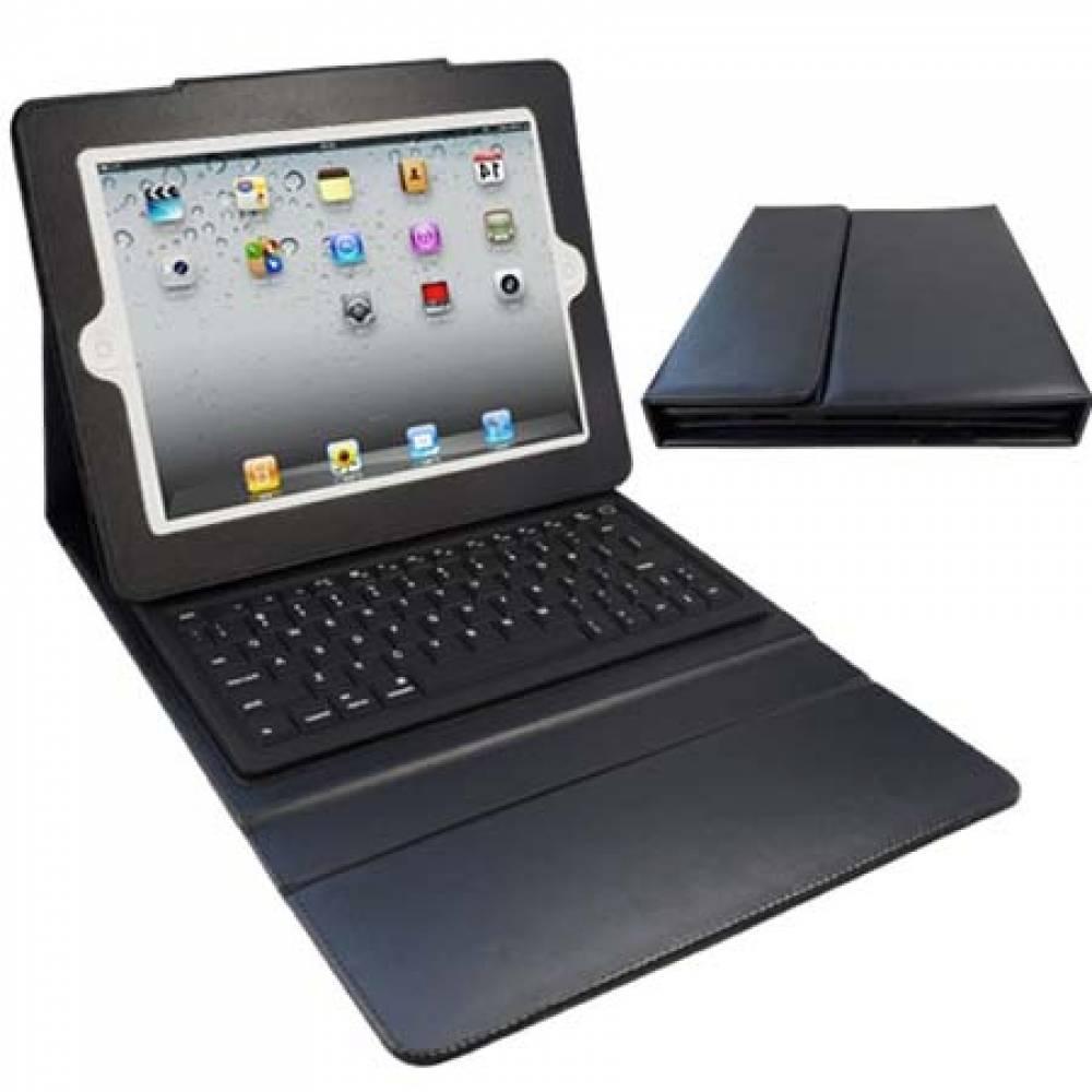 Кожен калъф с Bluetooth клавиатура за таблет Apple Ipad AIR Черна(KT-BTAIR) в tabletstorebg