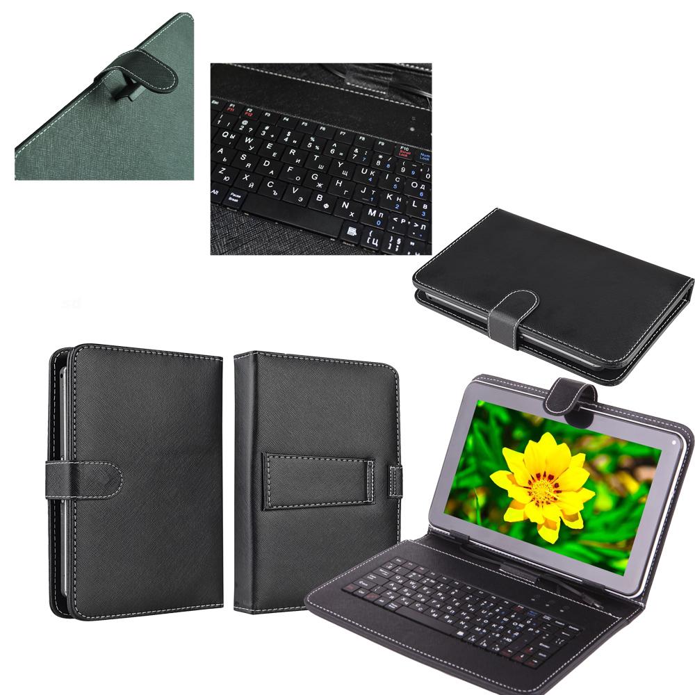 Кожен калъф с вградена клавиатура за 7 инча таблет-Черна(KB7B) в tabletstorebg