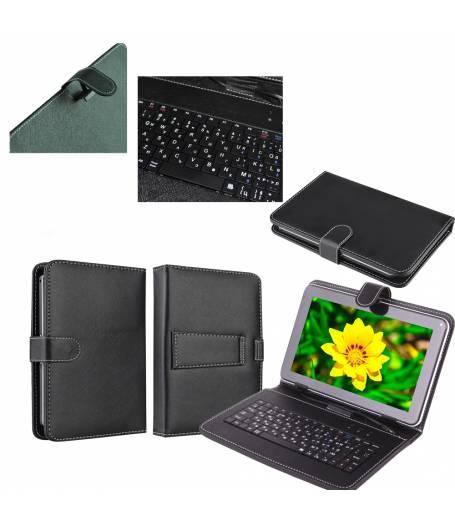 Кожен калъф с вградена клавиатура за 9 инча таблет-Черна(KB9B) в tabletstorebg