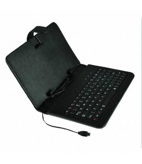Кожен кариран калъф с вградена клавиатура за 7 инча таблет-Черна(KB7B) в tabletstorebg
