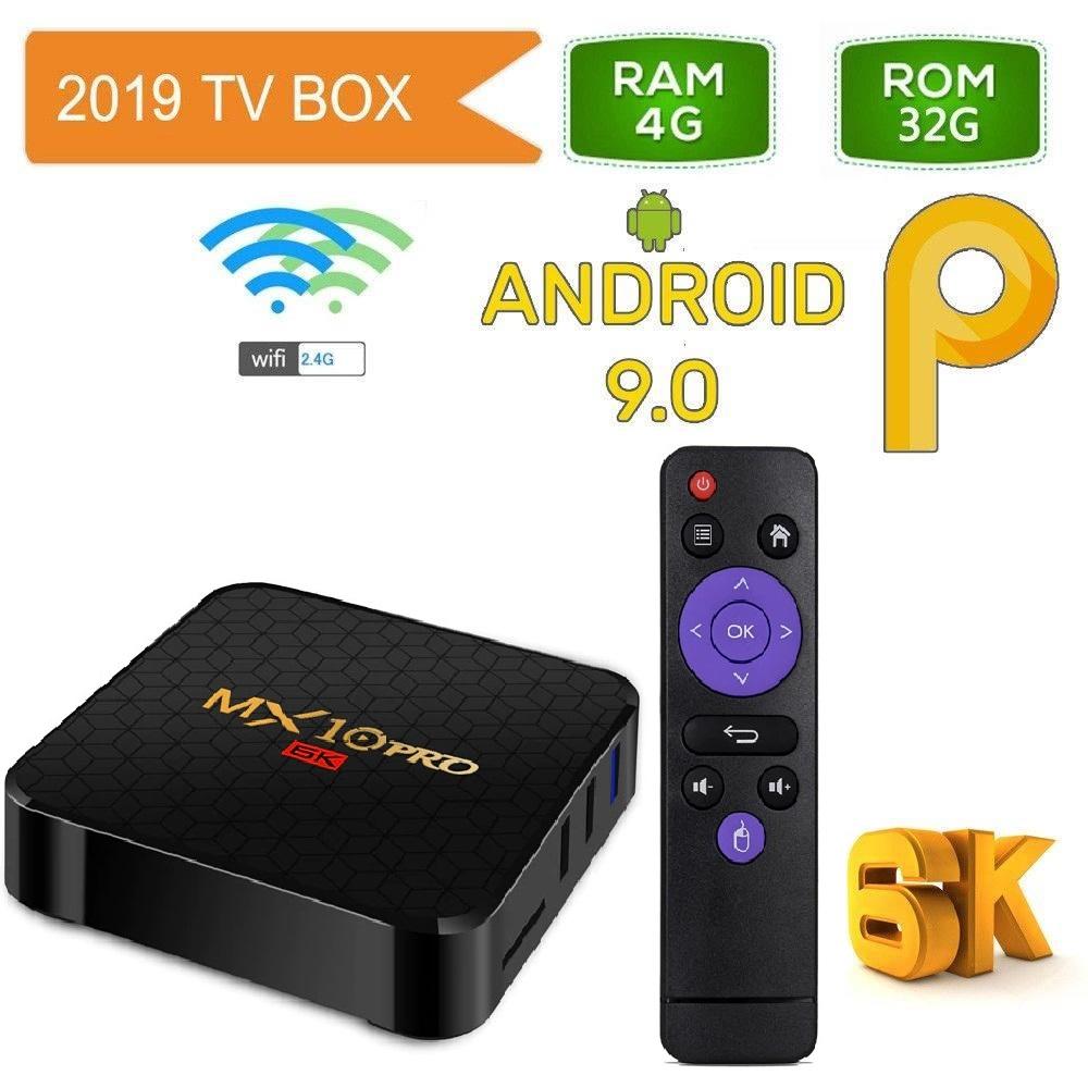 Мултимедия плеър KA Digital® MX10 Pro 6K ALLWINNER H6 Smart TV Box Android 9 4GB Ram, 32GB памет 2.4G WIFI USB 3.0