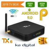 Мултимедия плеър KA Digital® TX6 ALLWINNER H6 Smart TV Box Android 10 6K 4GB Ram, 32GB памет 2.4G/5G WIFI