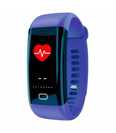 Фитнес гривна Smart Bracelet KA F07 BP/HR, Цветен дисплей, Кръвно налягане, Пулсомер, Часовник,Крачки, Калории, Синя
