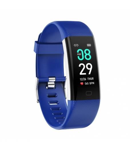 Фитнес гривна Smart Bracelet KA Digital F07 MAX BP/HR, Цветен дисплей, Кръвно налягане, Пулсомер, Часовник,Крачки, Калории, Синя