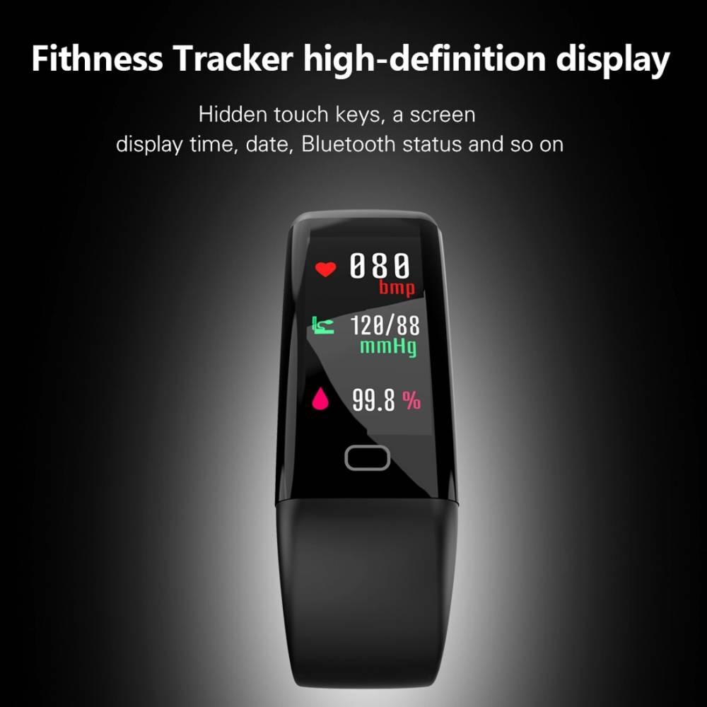 Фитнес гривна Smart Bracelet KA F07 MAX BP/HR, Кръвно..
