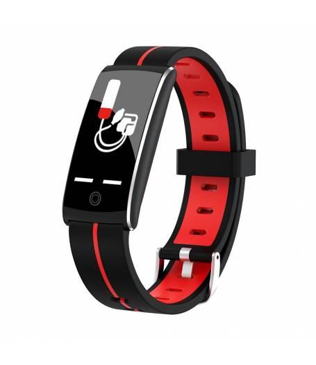 Фитнес гривна KA Digital F10 Plus BP HR, Кръвно налягане, Пулсомер, 3D Цветен дисплей, Крачки, Разстояние, Калории., Червена