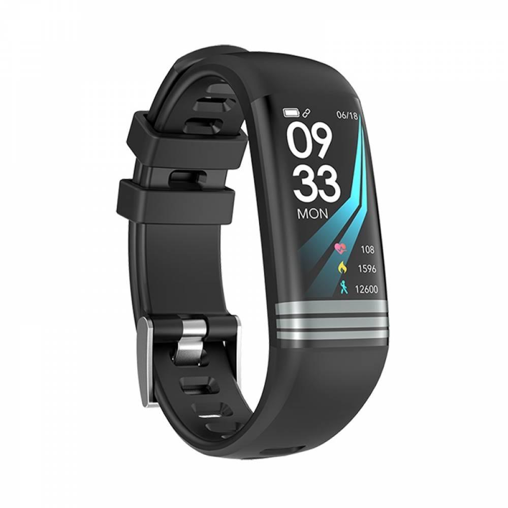 Смарт Фитнес гривна Smart Bracelet G26 S BP HR, Кръвно налягане, Пулсомер, Цветен дисплей, Крачки, Разстояние, Калории, Черна