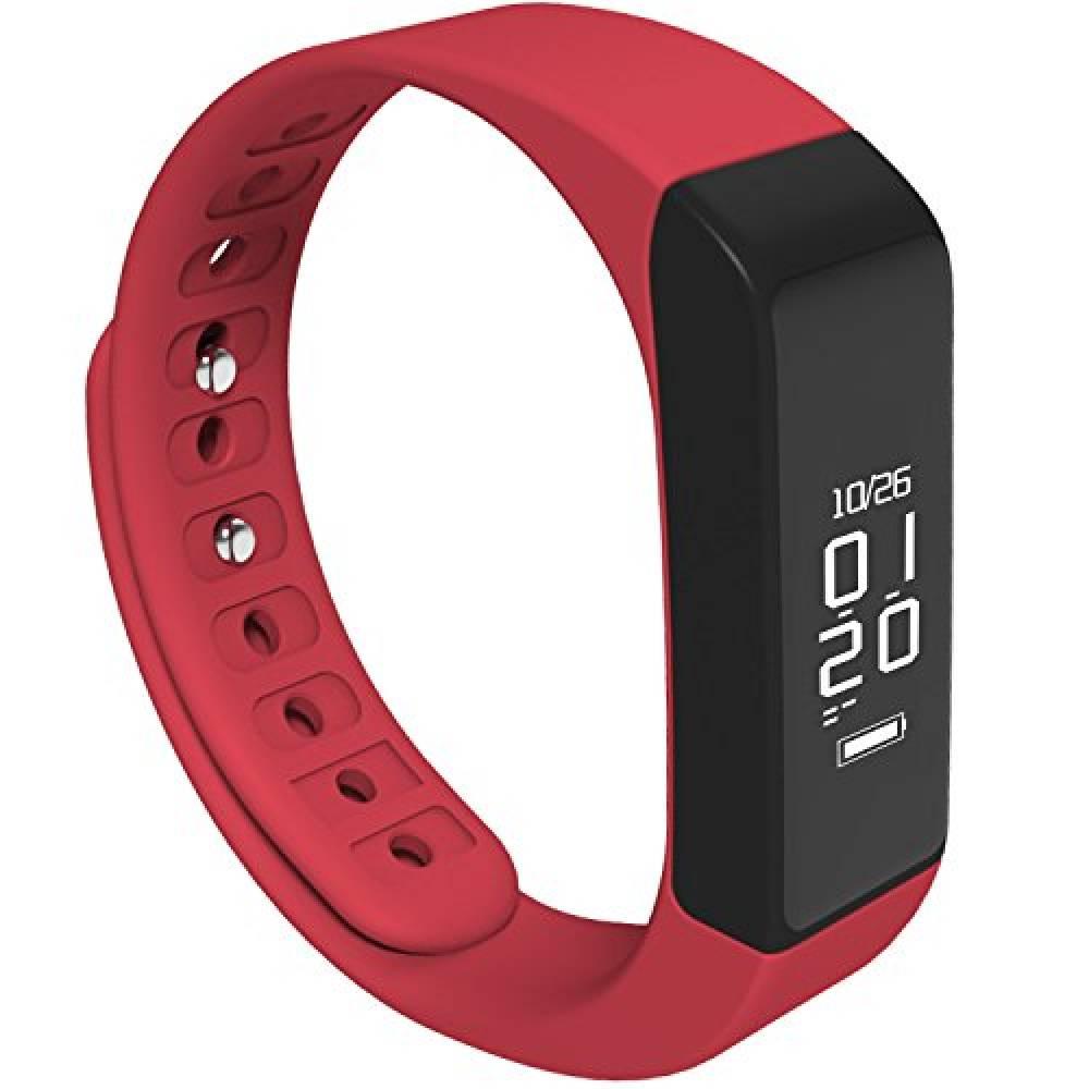 Фитнес гривна Smart Bracelet I5 Plus, Червена