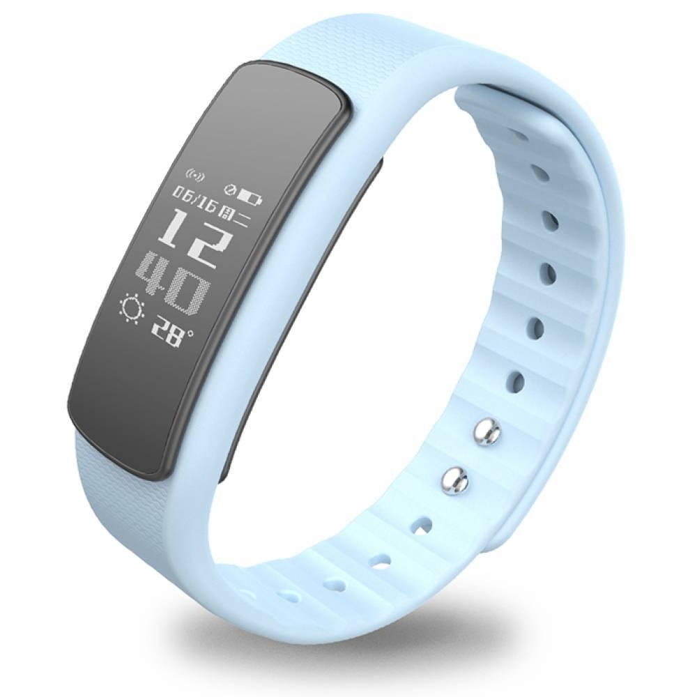 Фитнес гривна Smart Bracelet  I6 HR, Heart Rate monitor, Multi-sport, Фитнес монитор, Крачки, Калории, Бяла
