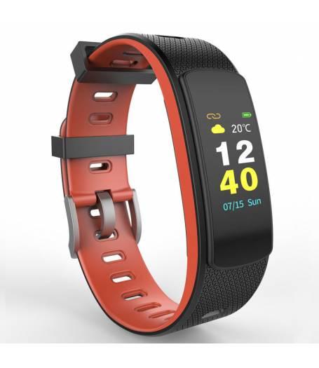 Фитнес гривна Ka Digital I6 HRC, Heart Rate monitor,Цветен дисплей, Multi-sport, Фитнес монитор, Крачки, Калории, Червена