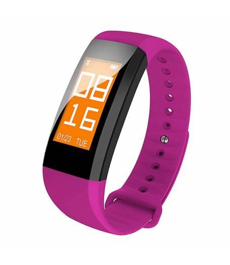 Фитнес гривна Smart Bracelet M99 BP/HR, Кръвно налягане, Пулс,Цветен OLED дисплей, Крачки, Калории, Часовник, IP68, Лилава