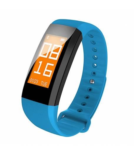 Фитнес гривна Smart Bracelet M99 BP/HR, Кръвно налягане, Пулс,Цветен OLED дисплей, Крачки, Калории, Часовник, IP68, Синя