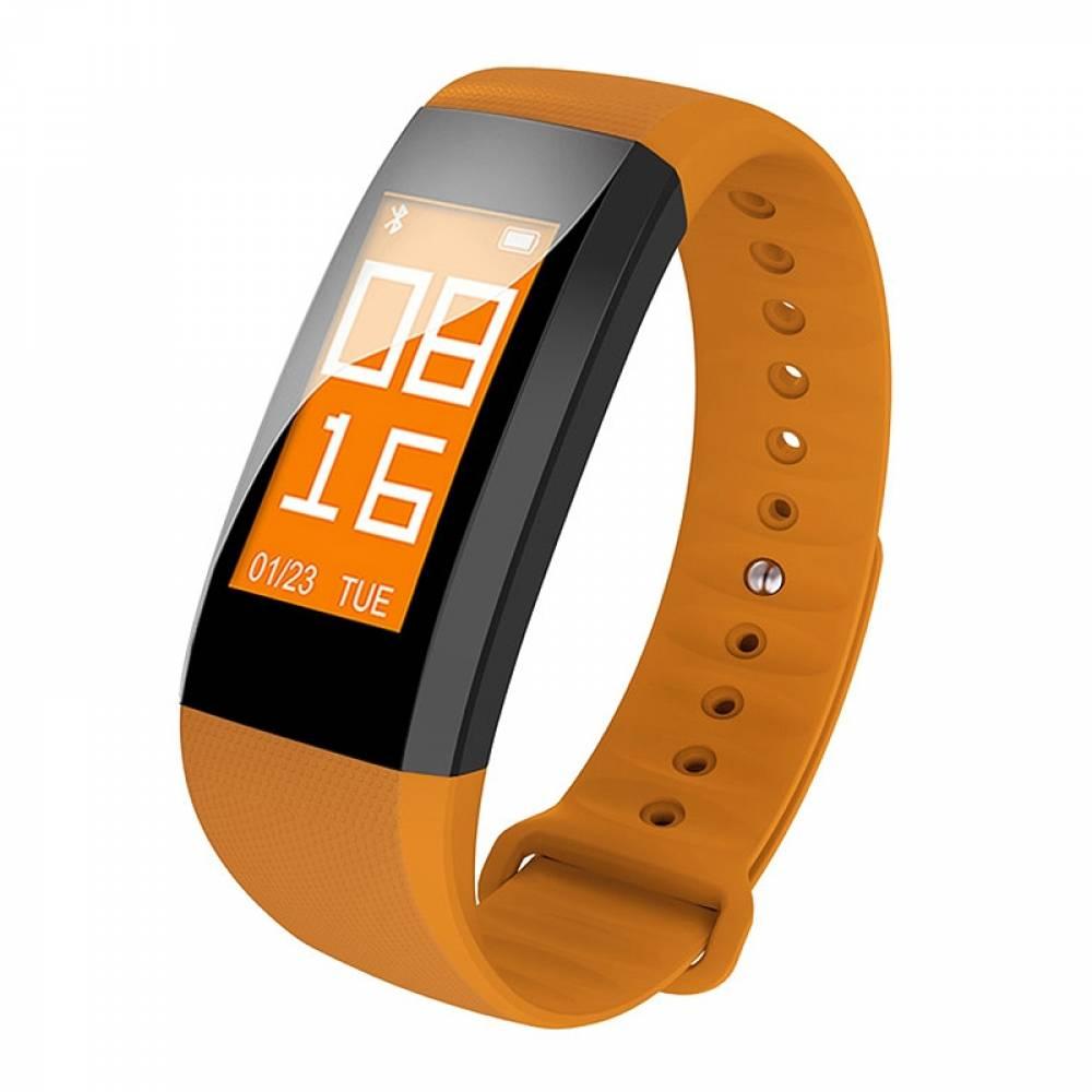 Фитнес гривна Smart Bracelet M99 BP/HR, Кръвно налягане, Пулс,Цветен OLED дисплей, Крачки, Калории, Часовник, IP68, Жълта
