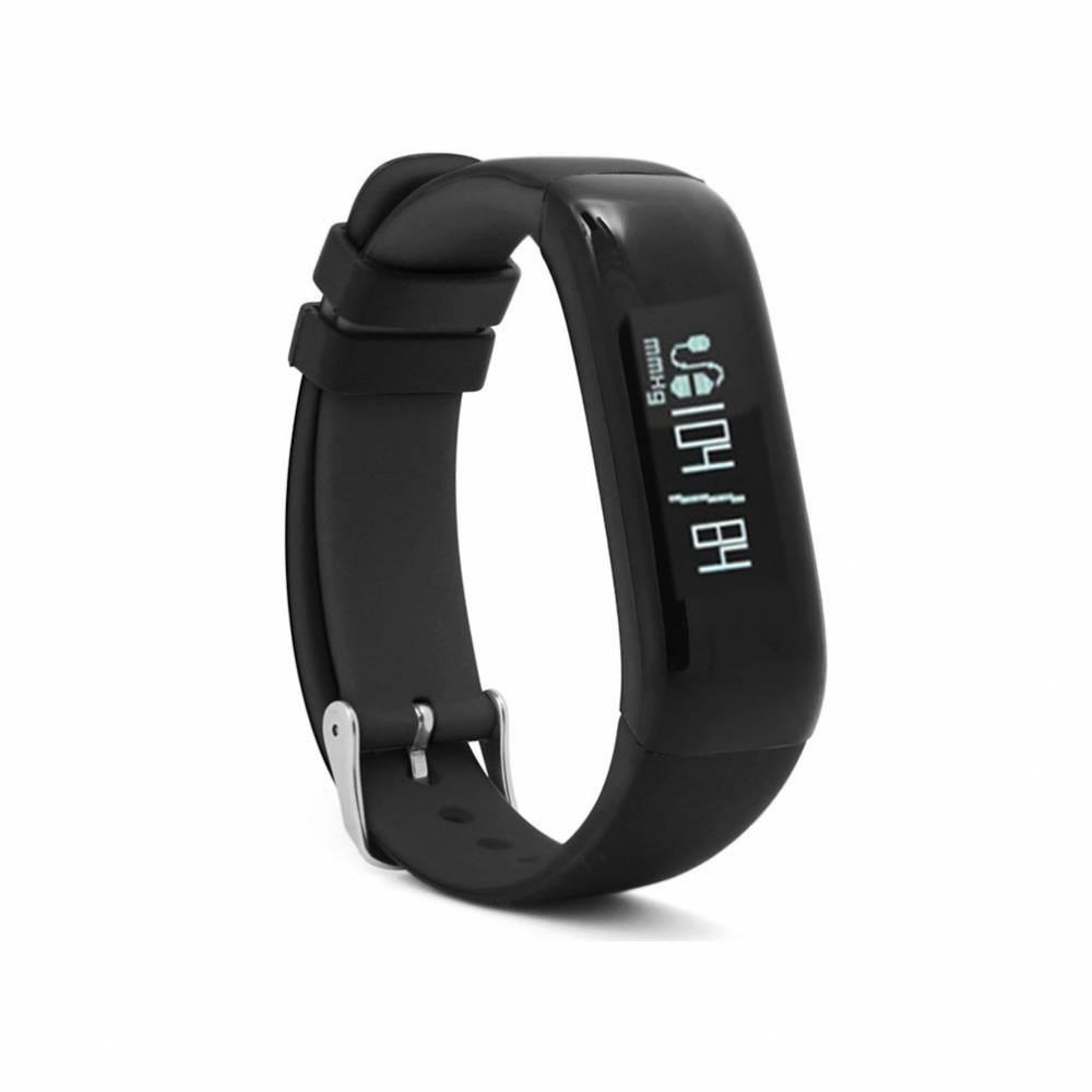Фитнес гривна Smart Bracelet P1 BP/HR, Кръвно налягане, Пулсомер, Часовник, Черна