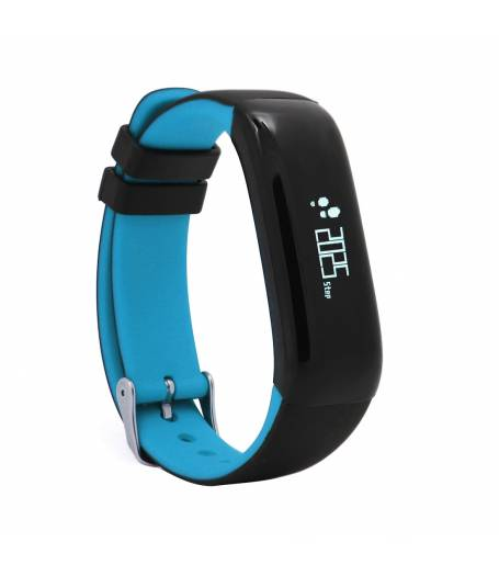 Фитнес гривна Smart Bracelet P1 BP/HR, Кръвно налягане, Пулсомер, Часовник, Синя