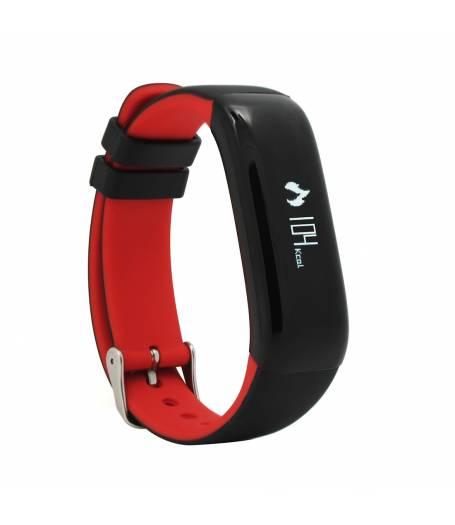 Фитнес гривна Smart Bracelet P1 BP/HR, Кръвно налягане, Пулсомер, Часовник, Червена