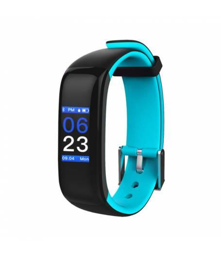 Фитнес гривна Smart Bracelet P1 Plus BP/HR, Кръвно налягане, Пулсомер, Цветен дисплей, Часовник, Синя